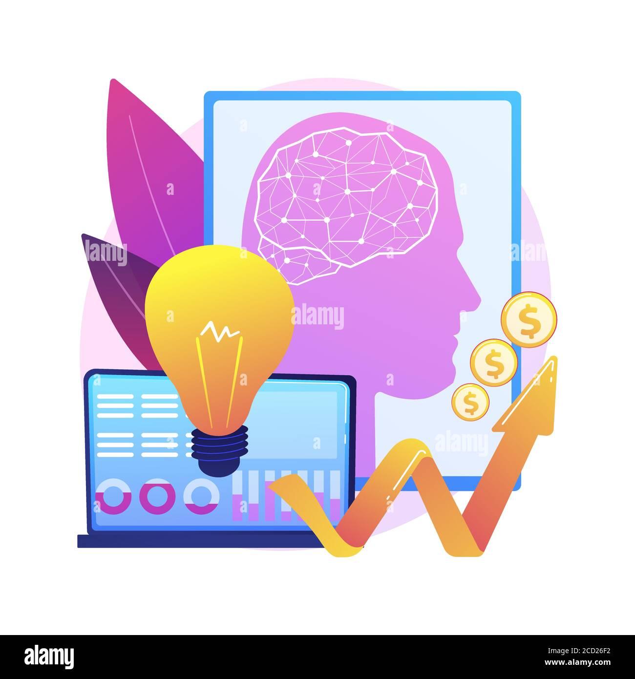 Inteligencia artificial en el financiamiento del concepto abstracto ilustración vectorial. Ilustración del Vector