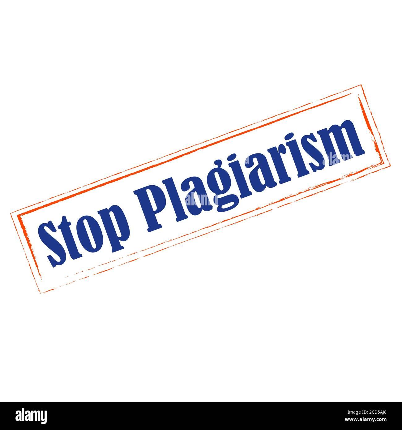 Detenga el plagio, robando y copiando ideas y pensamientos de conceptos originales y auténticos Ilustración del Vector