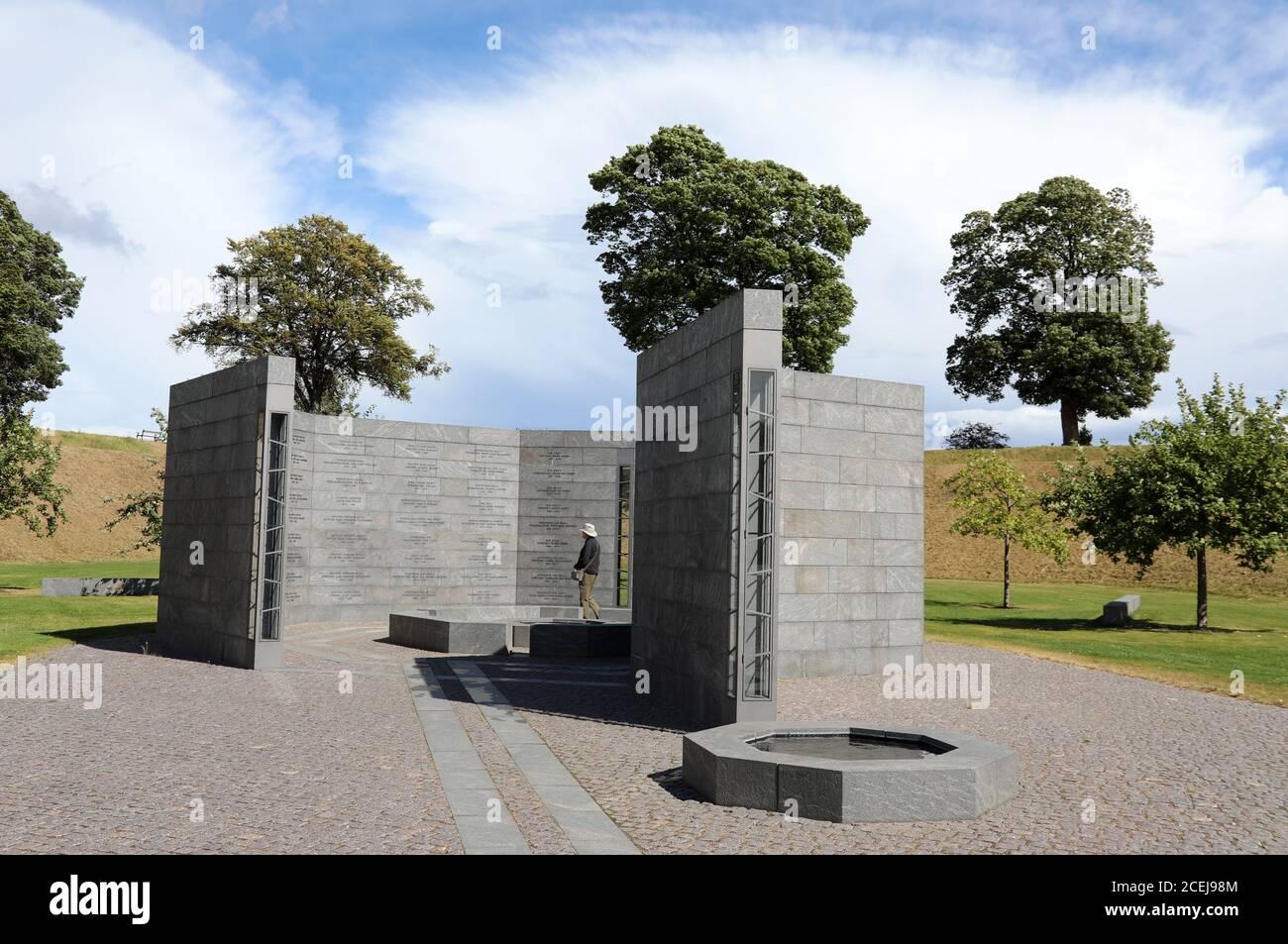 Kastellet Memorial al esfuerzo Internacional desde 1948 en Copenhague Foto de stock
