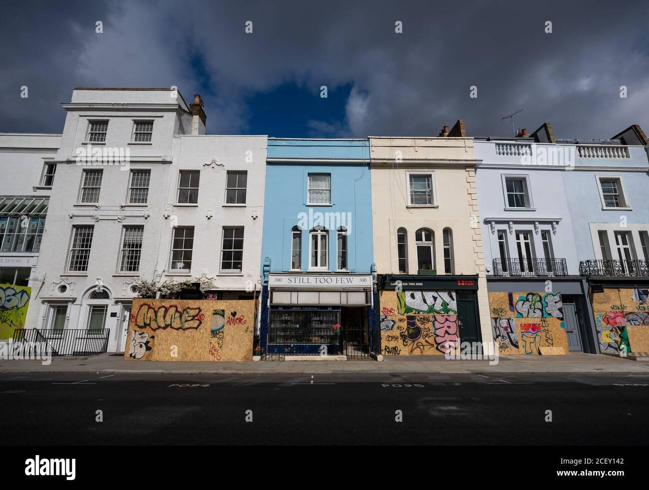 Notting Hill Carnival 2020. El abordaje antes de que el millón de personas marchen en Notting Hill en medio de los temores de desorden público durante el fin de semana de vacaciones bancarias. Foto de stock