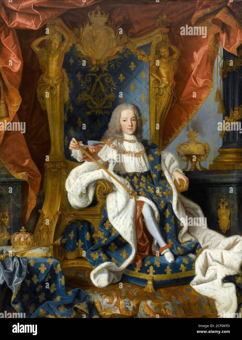 Retrato de Luis XV de niño - Jean Ranc, alrededor de 1719 Foto de stock