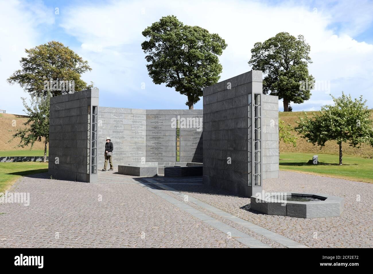 Monumento de Finn Reinbothe en el Kastellet en Copenhague Foto de stock