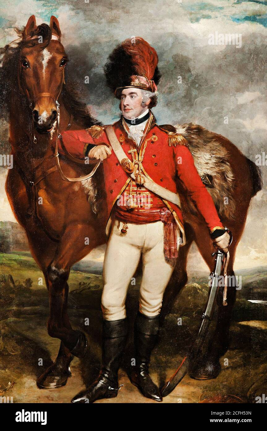 Martin Archer Shee, mayor o'Shea de la leal Legión de Cork, 1798 Óleo sobre lienzo, Galería de Arte de Australia del Sur Foto de stock