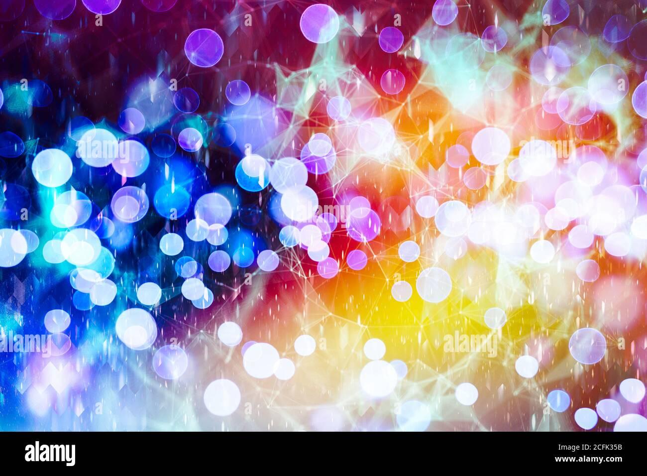 Color de luz borrosa abstracta diseño de fondo se pueden utilizar para el concepto de fondo o fondo del festival. Foto de stock
