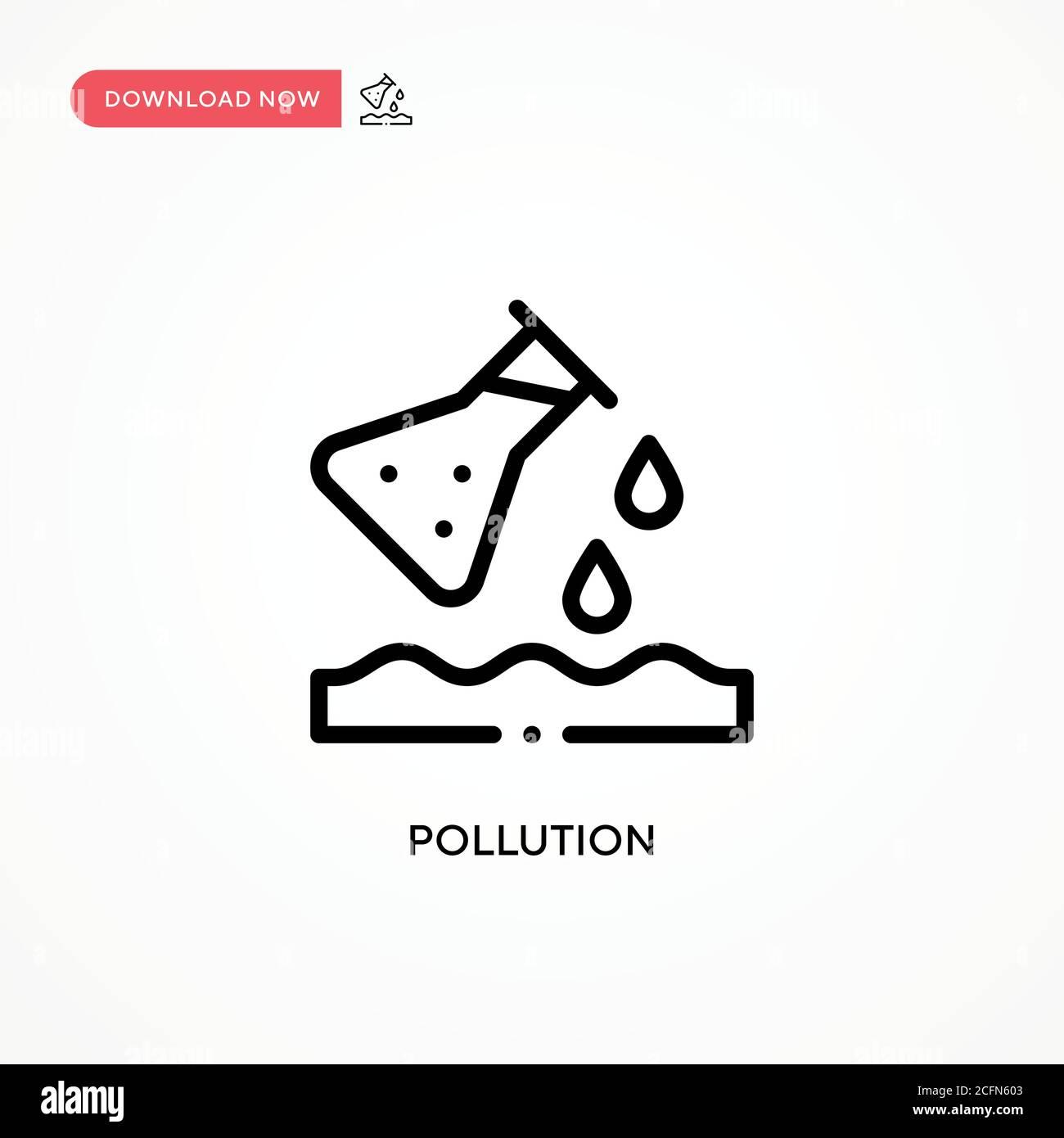 Icono de vector de contaminación. Ilustración moderna y sencilla de vector plano para sitio web o aplicación móvil Ilustración del Vector