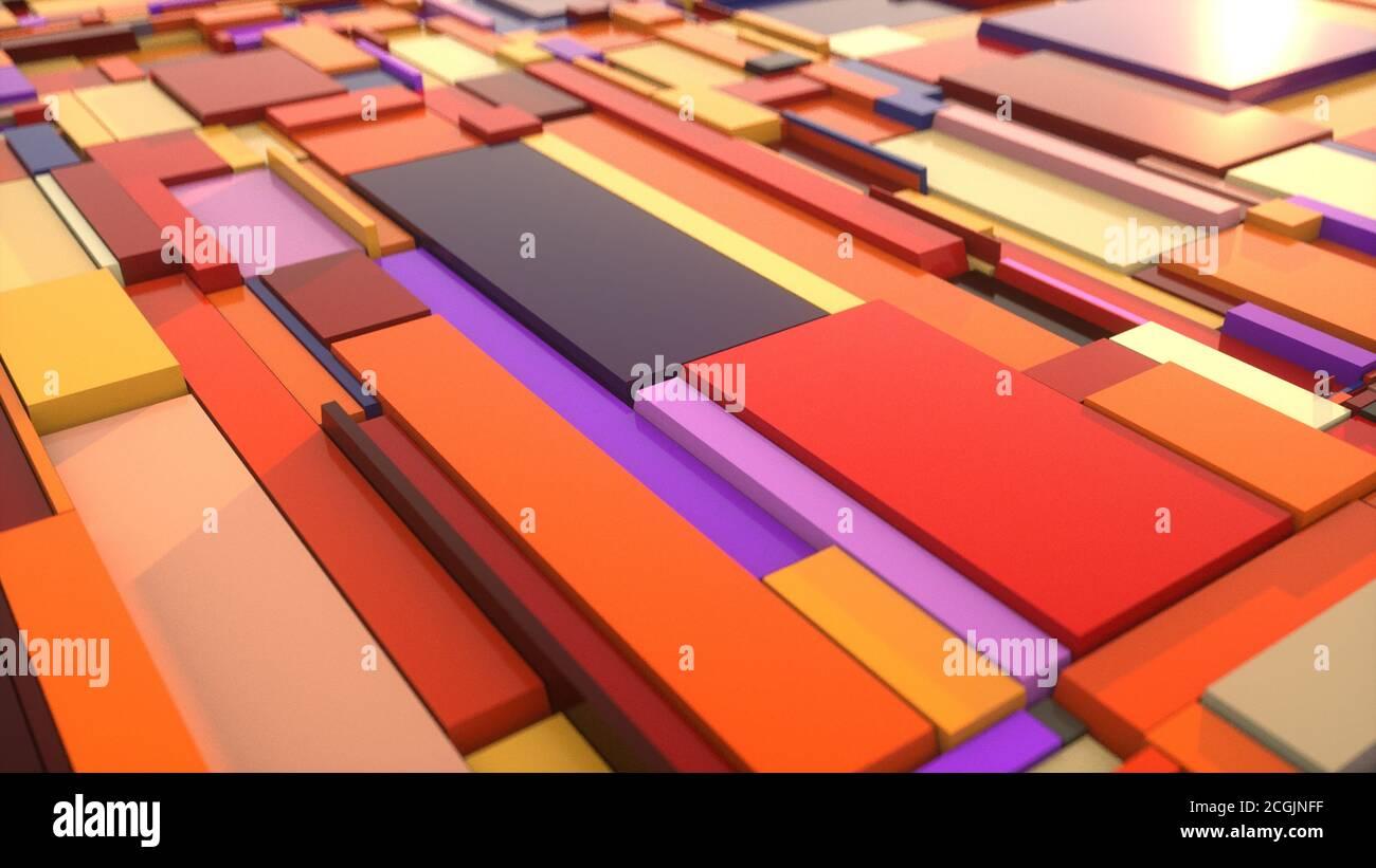 Fondo colorido abstracto con formas Foto de stock