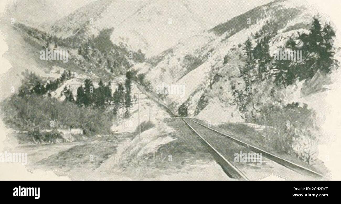 . Recorrido por el continente: Colorado, California y Parque Nacional Yellowstone: Tren especial, realizado personalmente a través de Nueva York Central y Hudson River R.R. y líneas de conexión. Los ciudadanos de VORTHERN PACIFIC comenzaron a reconstruir más fuerte y mejor. La ciudad está situada en una pendiente ascendente, con una vista de mostifharming del sonido y las montañas olímpicas cubiertas de nieve. Una de las delicias es un paseo en tranvía por la ciudad y un paseo en vaporera por el lago Washington, uno de los pintorescos cuerpos de agua en el mundo. Servicio de restaurantes y coches. En Seattle, el Pacífico Norte adjuntará el comedor-carto Foto de stock