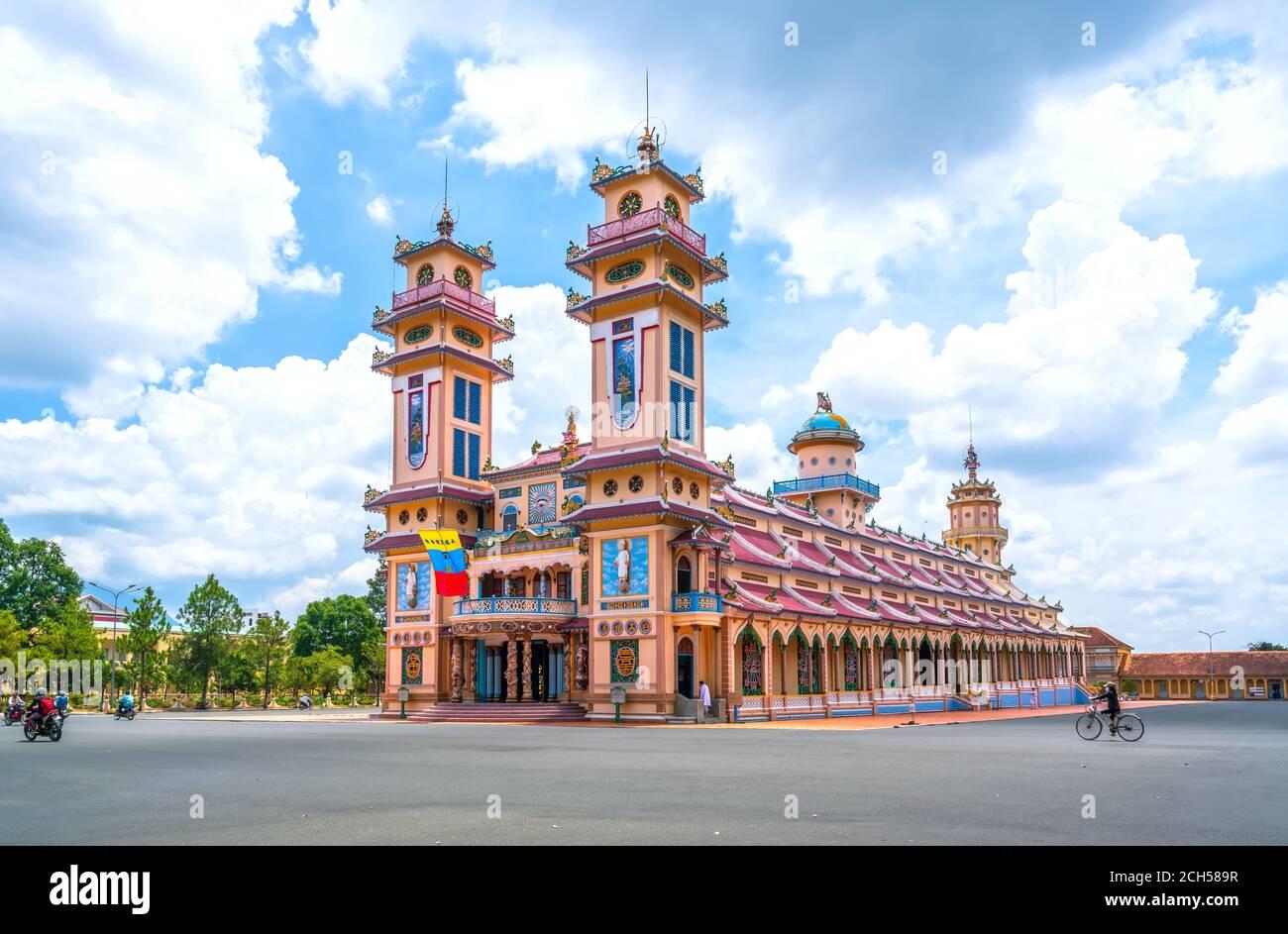 Paisaje fuera del templo santo fue construido en 1926, este es el centro de la torre de la iglesia oficialmente un turista para visitar y admirar Foto de stock