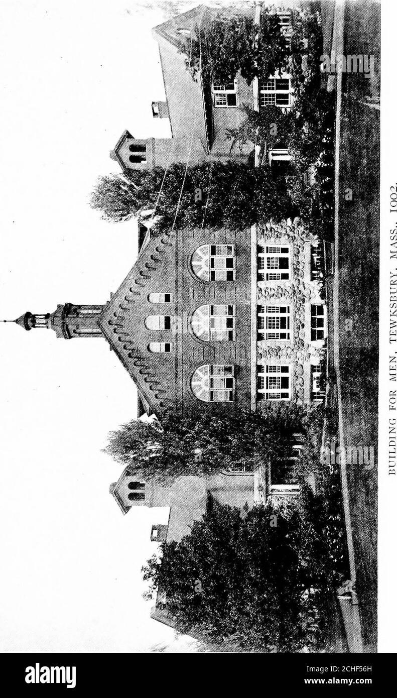 . El cuidado institucional del loco en los Estados Unidos y Canadá. El antiguo edificio desocupado por los hombres fue trasladado a través del patio, de conformidad con la sugerencia de la Junta de Lunacyand Charity, y fue ocupado por 60 mujeres insanas. Las conferencias de la escuela de capacitación continuaron desde octubre hasta junio I. los asilos para el loco fueron llevados bajo el mando del superintendente de enfermeras, y el trabajo de la escuela de capacitación se extendió al departamento de asilo. En 1895 $5o,OOC) fue consignado para un edificio para los insanewomen. En 1896 Dr. John M. Gile, asistán Foto de stock