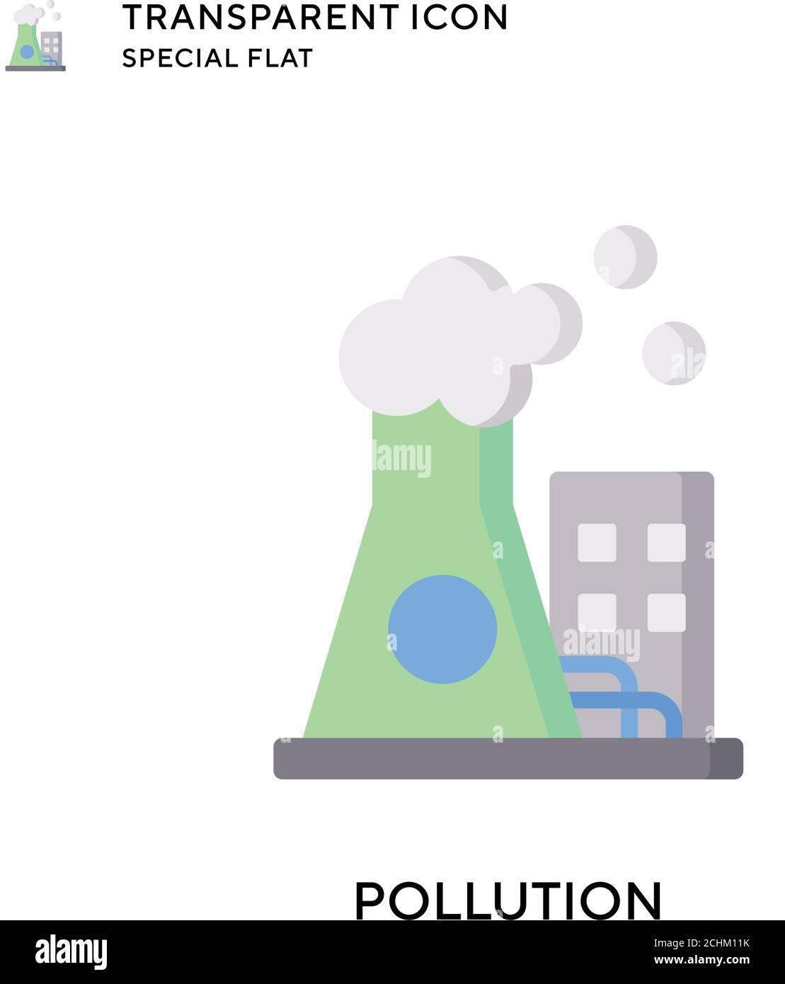 Icono de vector de contaminación. Ilustración de estilo plano. EPS 10 vector. Ilustración del Vector