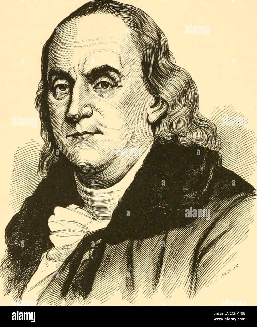Héroes Y Estadistas De América Un Libro Popular De La Biografía Americana Benjamin Franklin Benjamin Franklin