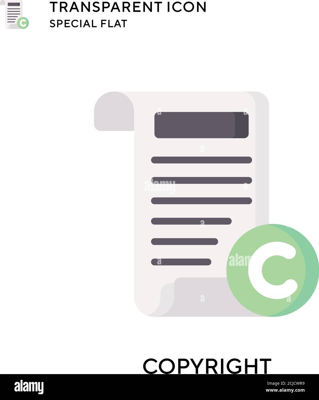 Icono de vector de copyright. Ilustración de estilo plano. EPS 10 vector. Ilustración del Vector