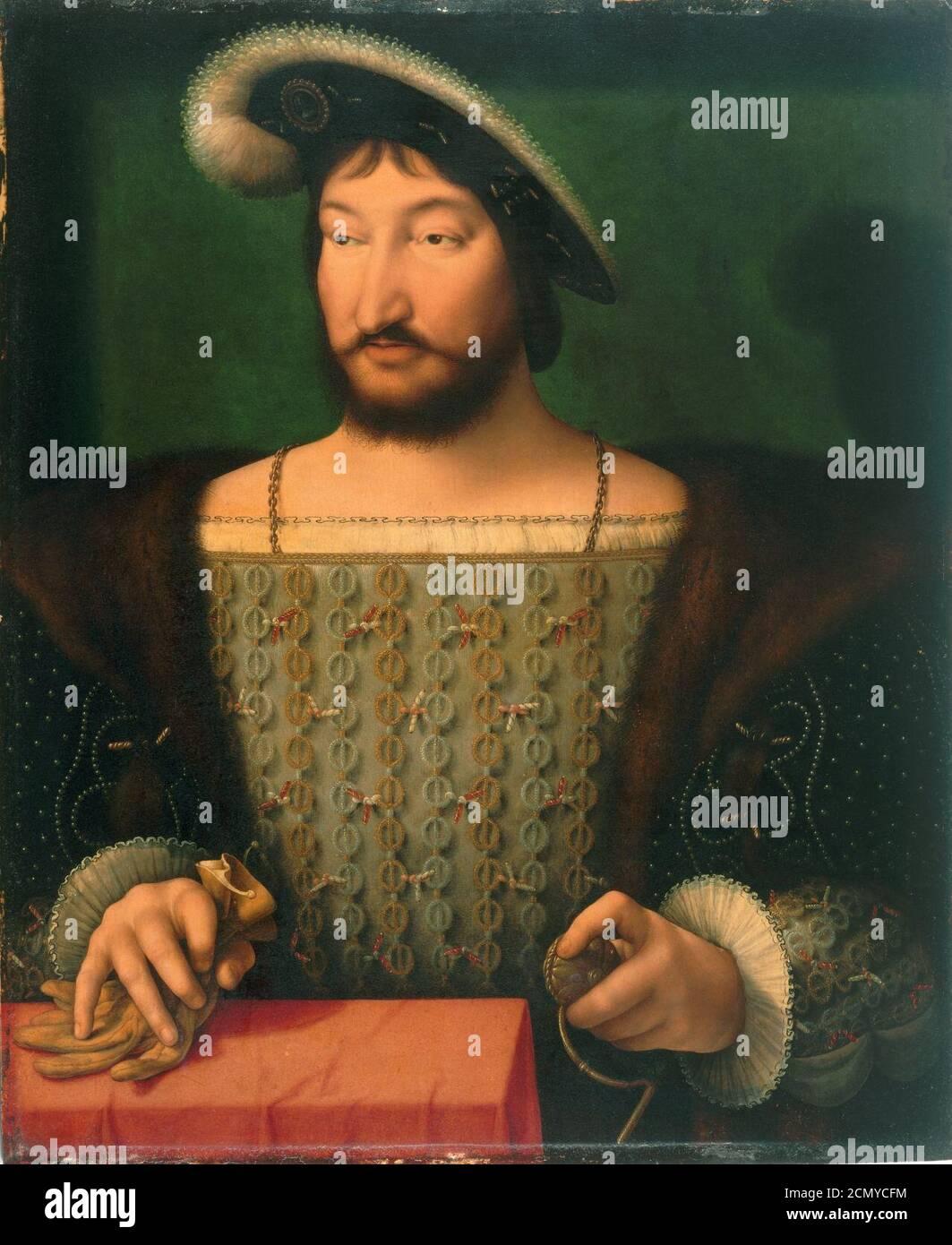 Joos Van Cleve Retrato De Francisco I Rey De Francia Ca 1532 1533 Fotografía De Stock Alamy