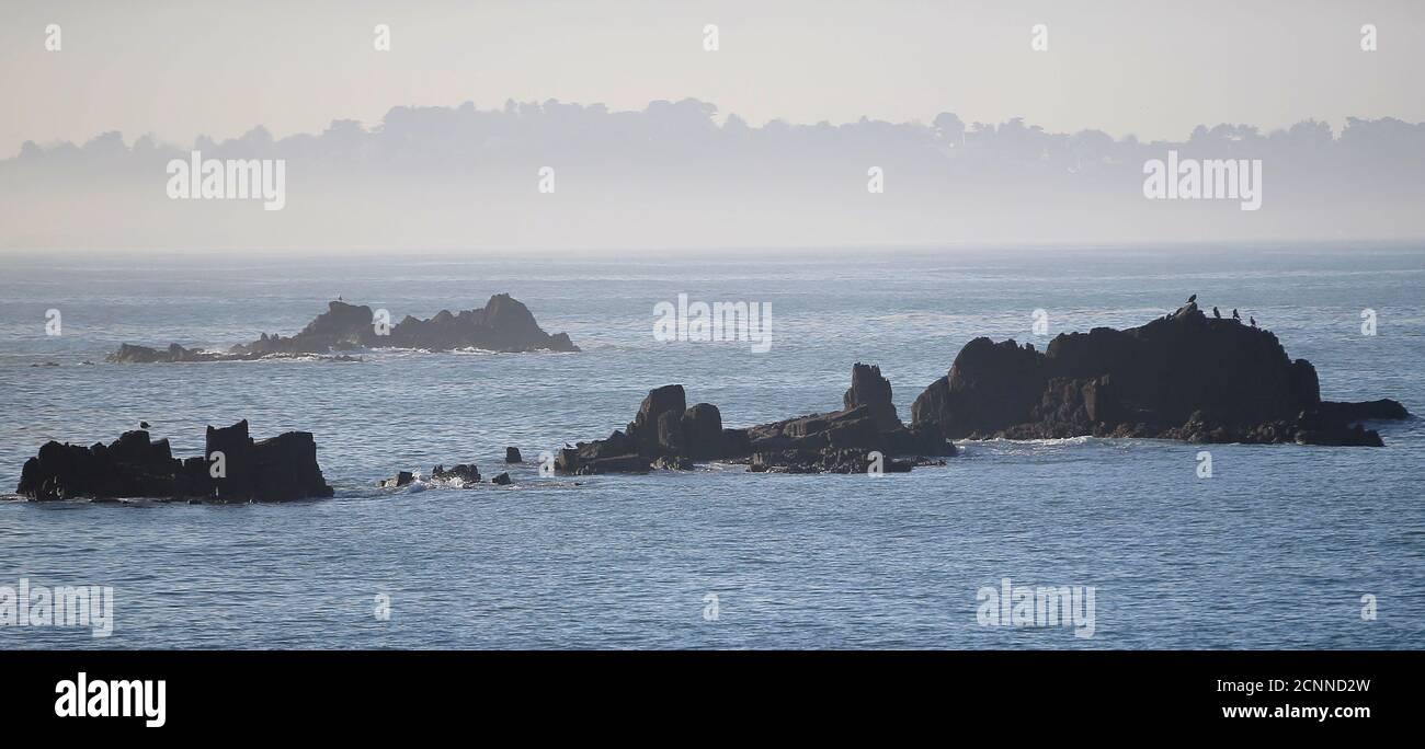 General view in Tredrez-Locquemeau near Lannion, Brittany's Atlantic coast, December 17, 2016. REUTERS/Stephane Mahe Foto de stock