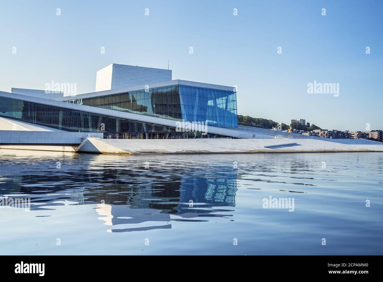 Nueva ópera de la Ópera Noruega en Oslo, Noruega, Escandinavia, Norte de Europa, Europa Foto de stock