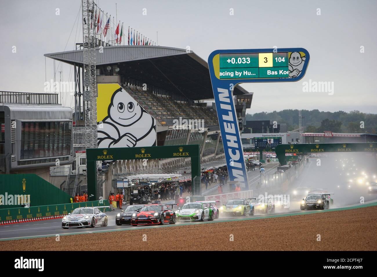 Le Mans, Francia. 19 de septiembre de 2020. 125 Larry Ten Voorde, Porsche 911 GT3 Cup, acción 104 Hartog Loek, Bas Koeten Racing, Porsche 911 GT3 Cup durante la Copa Porsche Carrera 2020 en el circuito des 24 Heures du Mans, del 18 al 19 de septiembre de 2020 en le Mans, Francia - Foto Thomas Fenetre / DPPI crédito: LM/DPPI/Thomas Fenetre/Alamy Live News crédito: Gruppo Editoriale LiveMedia/Alamy Live News Foto de stock