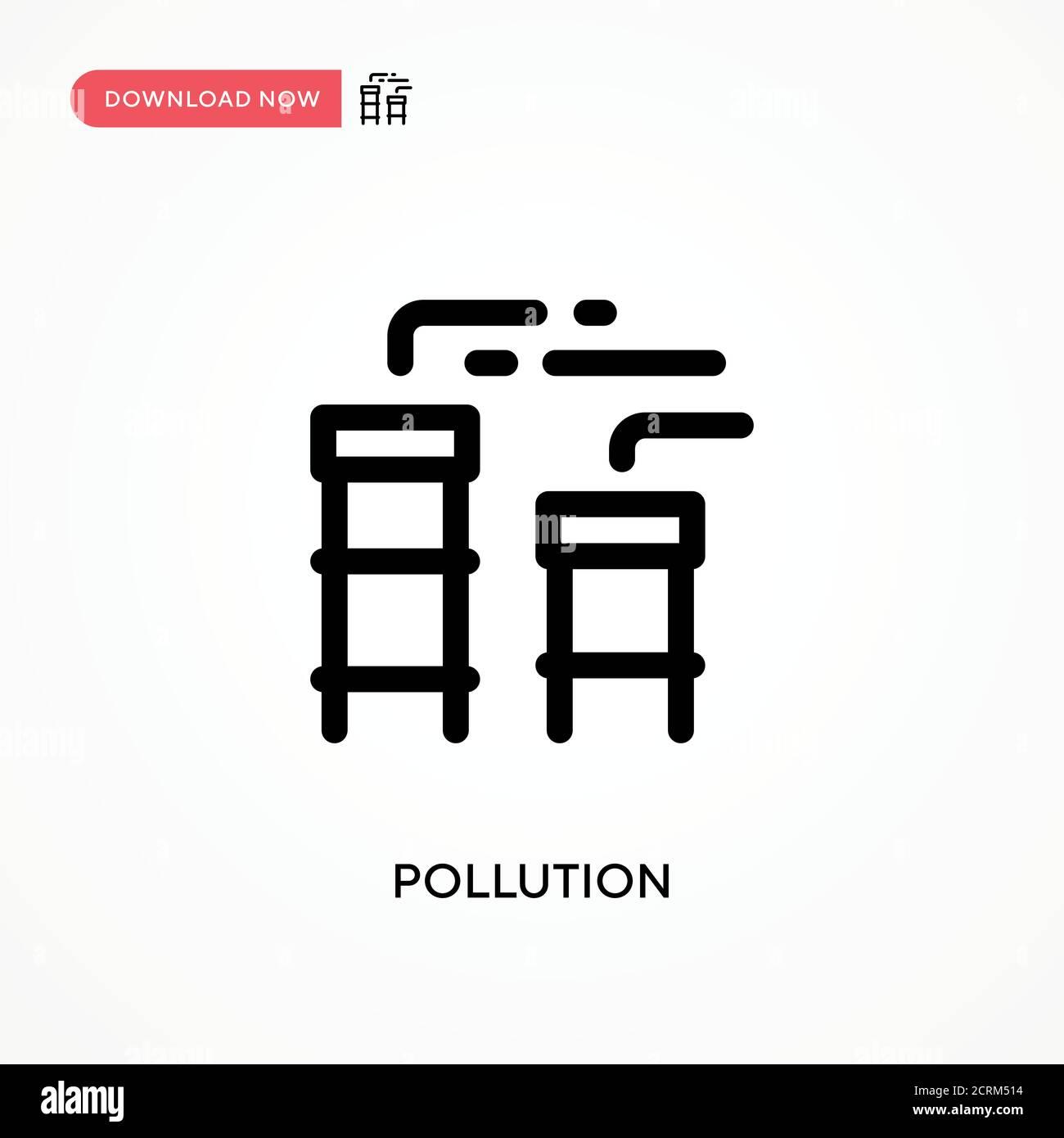 Contaminación simple vector icono. Ilustración moderna y sencilla de vector plano para sitio web o aplicación móvil Ilustración del Vector