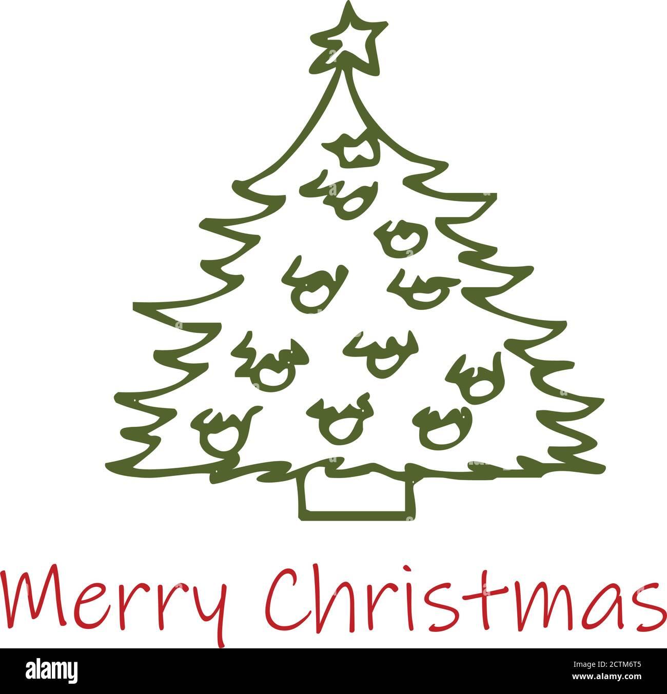 Diseño De Plantilla De árbol De Navidad Para Imprimir O Usar Como Póster Tarjeta Volante O Camiseta Imagen Vector De Stock Alamy