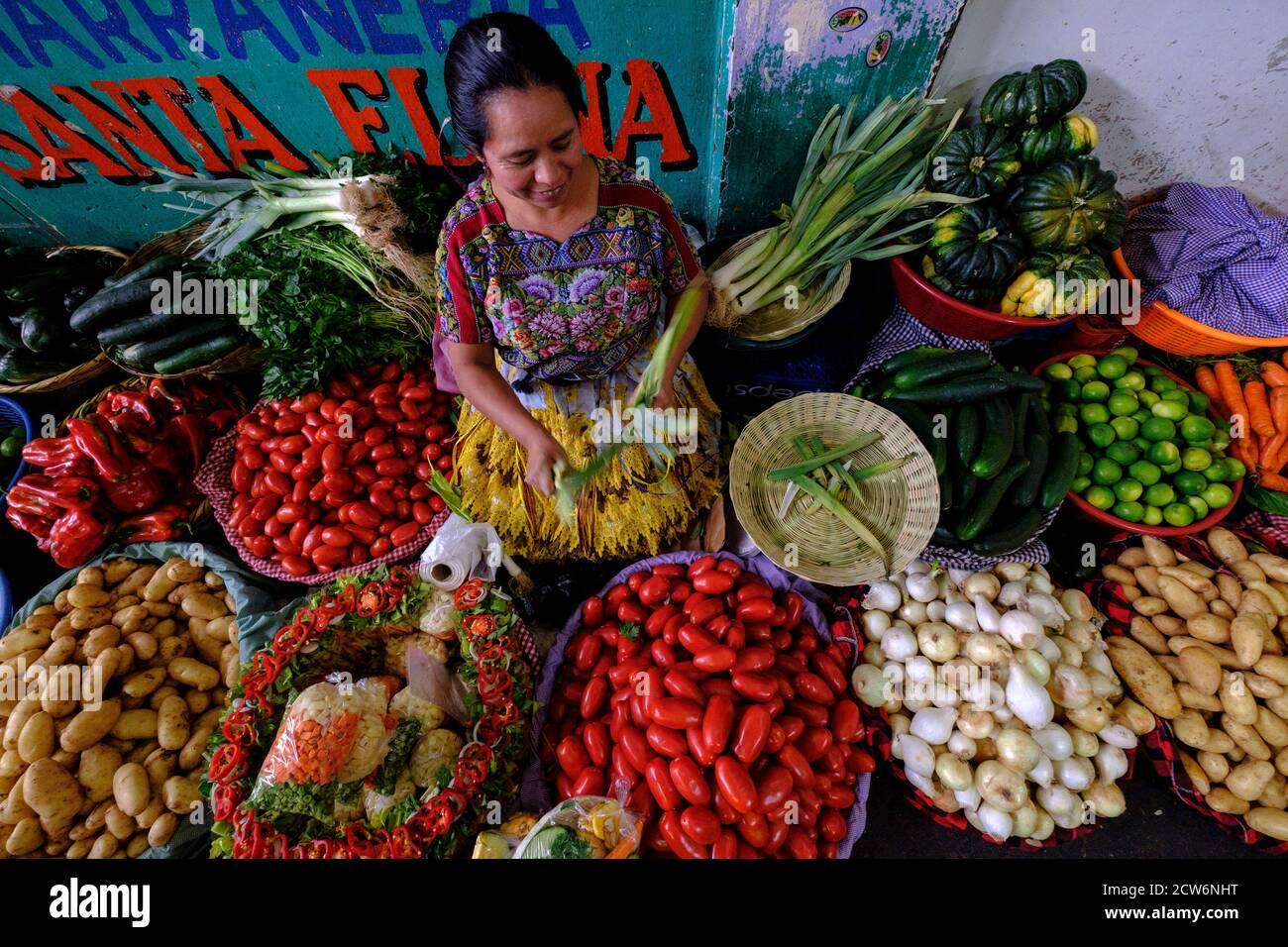 mercado central, Antigua Guatemala, departamento de Sacatepéquez, Guatemala, Centroamérica Foto de stock