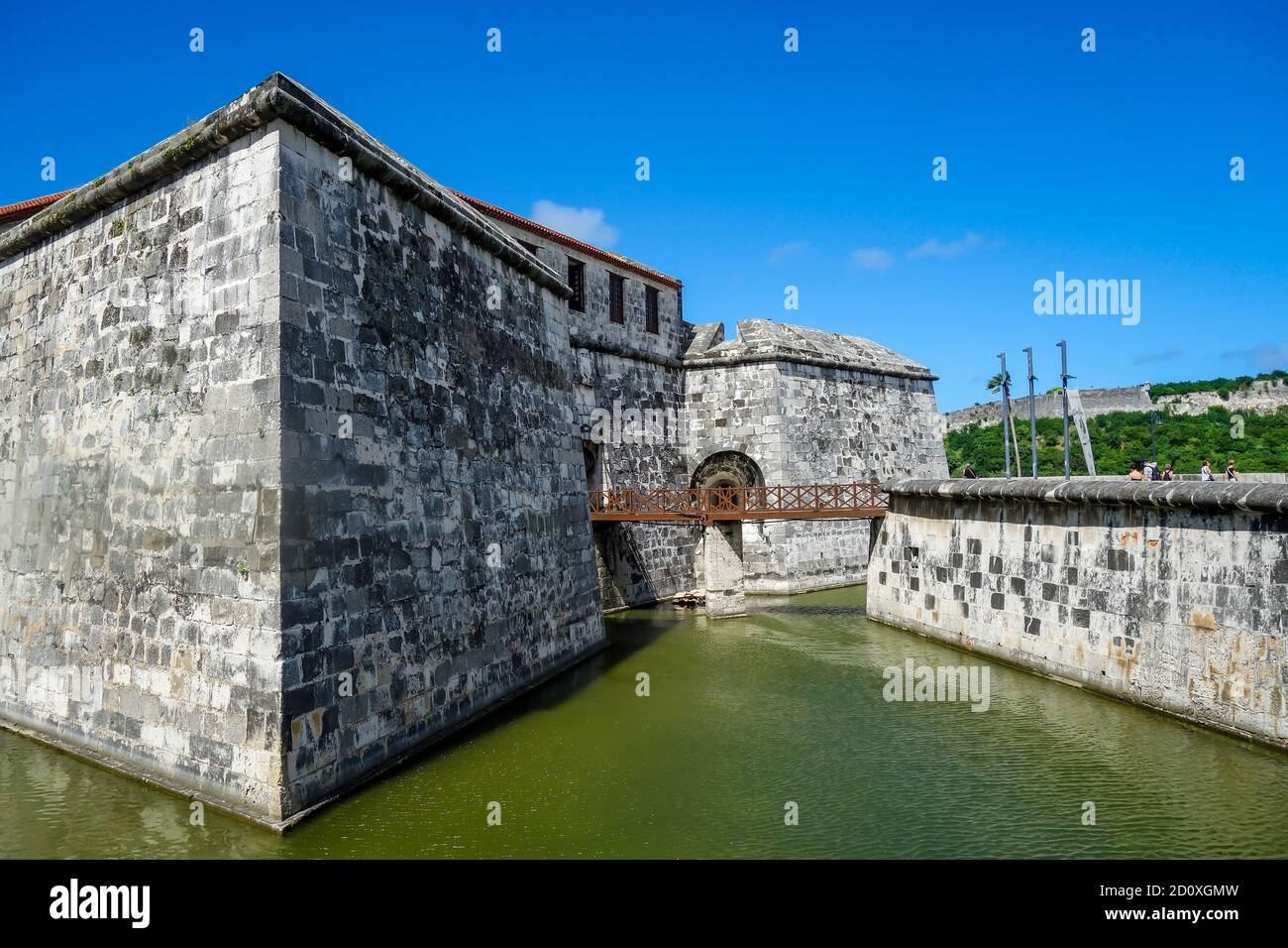 La Habana, Cuba: Vista del Castillo de la Real Fuerza. Foto de stock