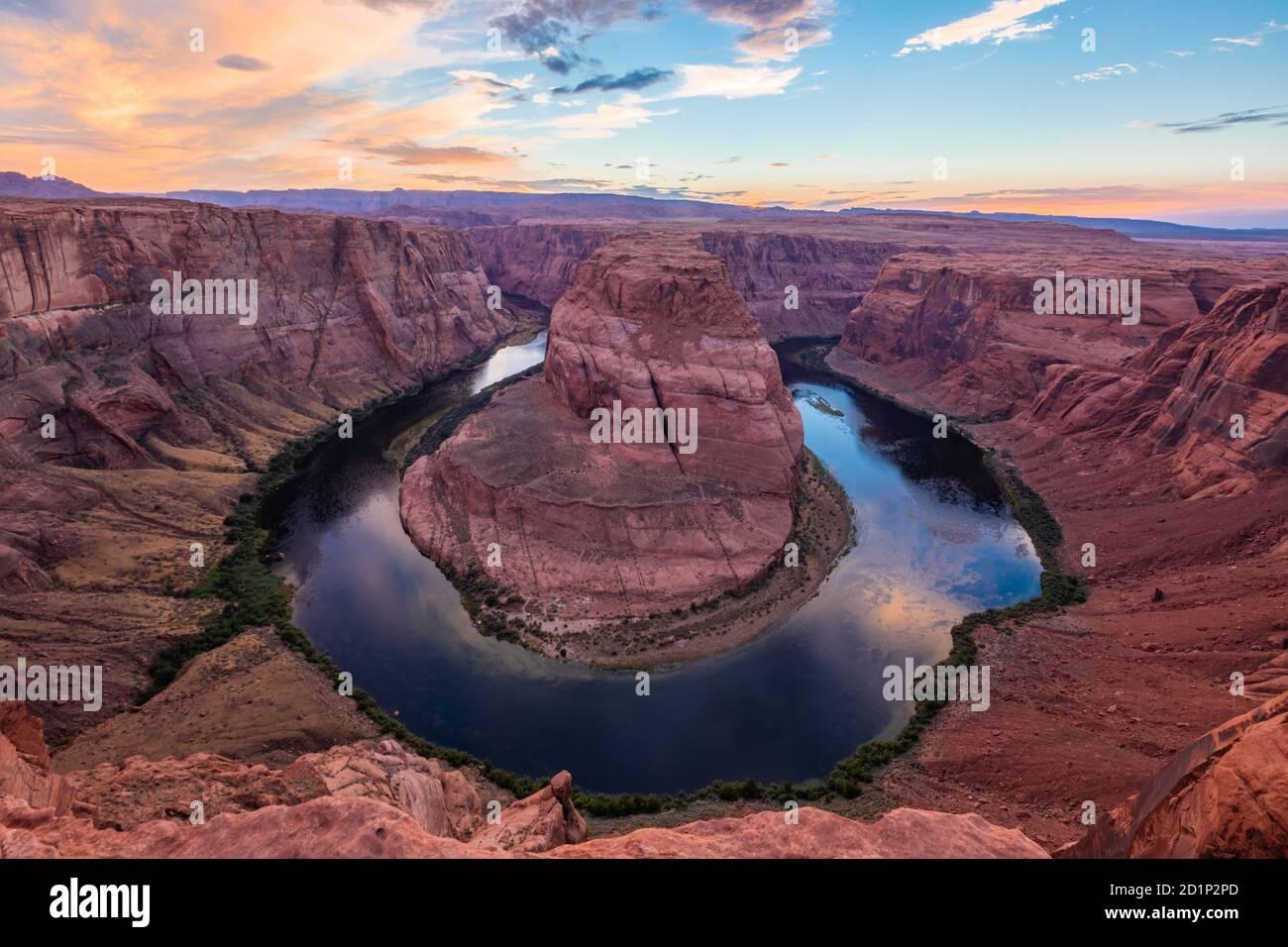 Horseshoe Bend, Arizona Foto de stock