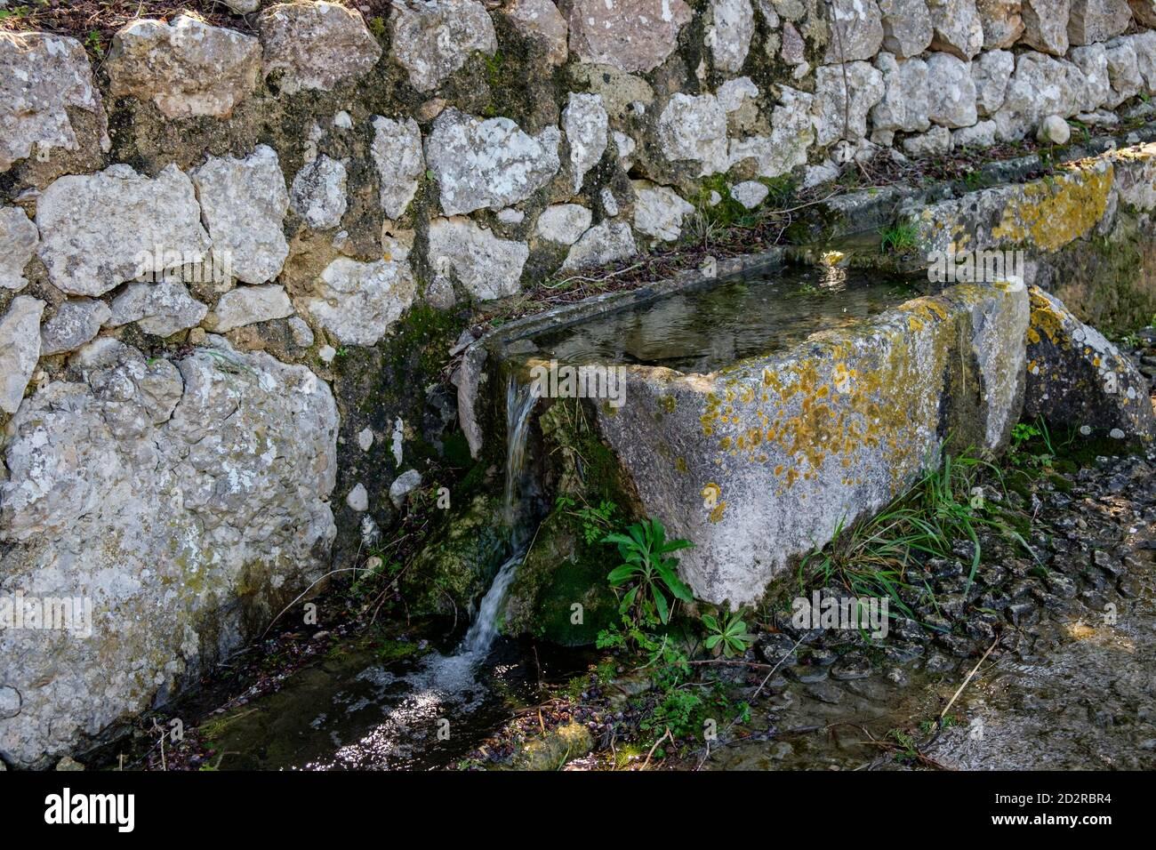 abrevadero, Abeurador del Camí Blanc, Campanet, Mallorca, Islas baleares, España Foto de stock