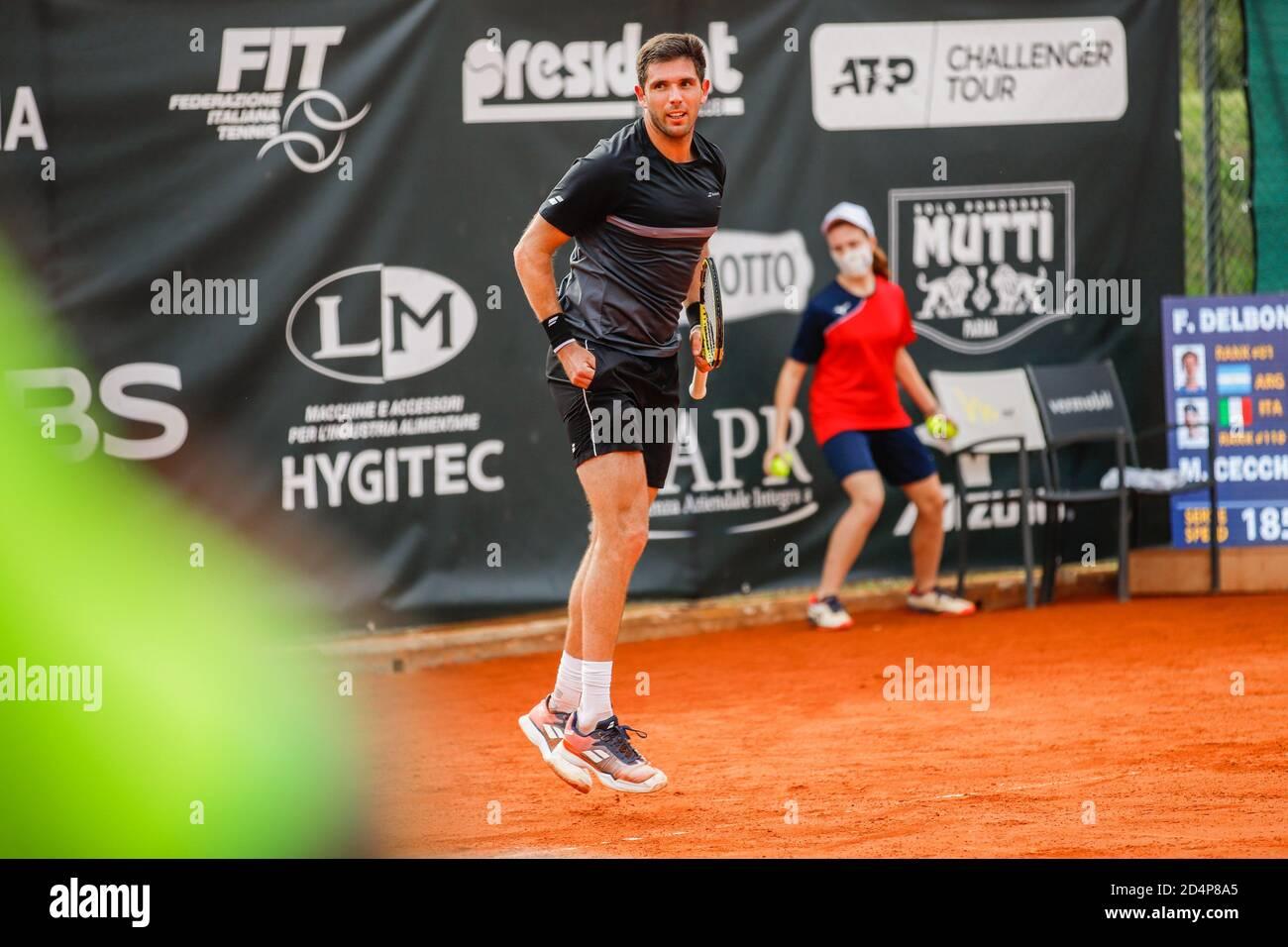 Federico Delbonis durante ATP Challenger 125 - Internazionali Emilia Romagna, Tenis Internacionales en parma, Italia, Octubre 09 2020 Foto de stock