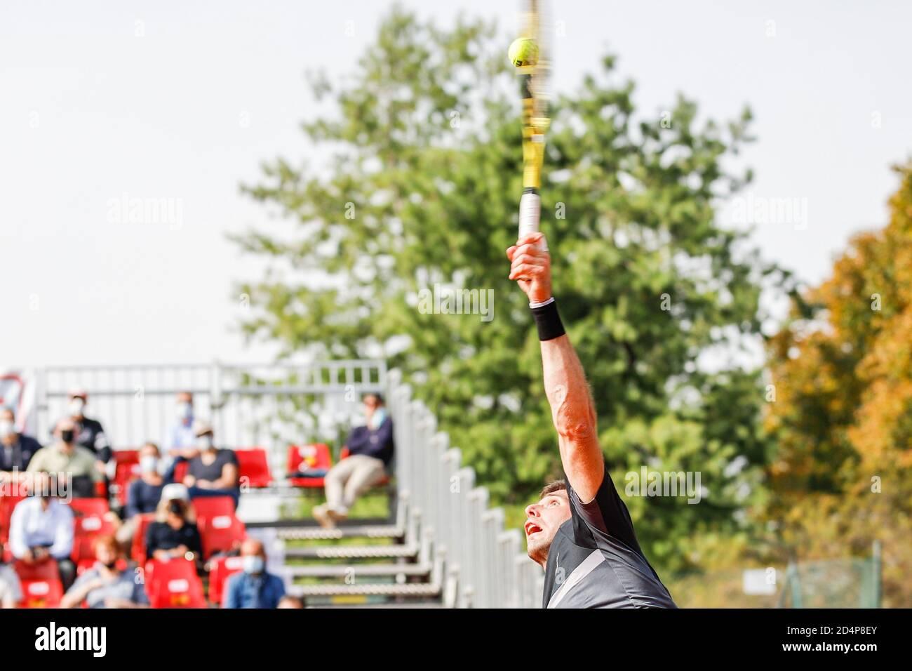 Ederico Delbonis durante ATP Challenger 125 - Internazionali Emilia Romagna, Tennis Internationals, parma, Italia, 09 Oct 2020 crédito: LM/Roberta Corrad Foto de stock