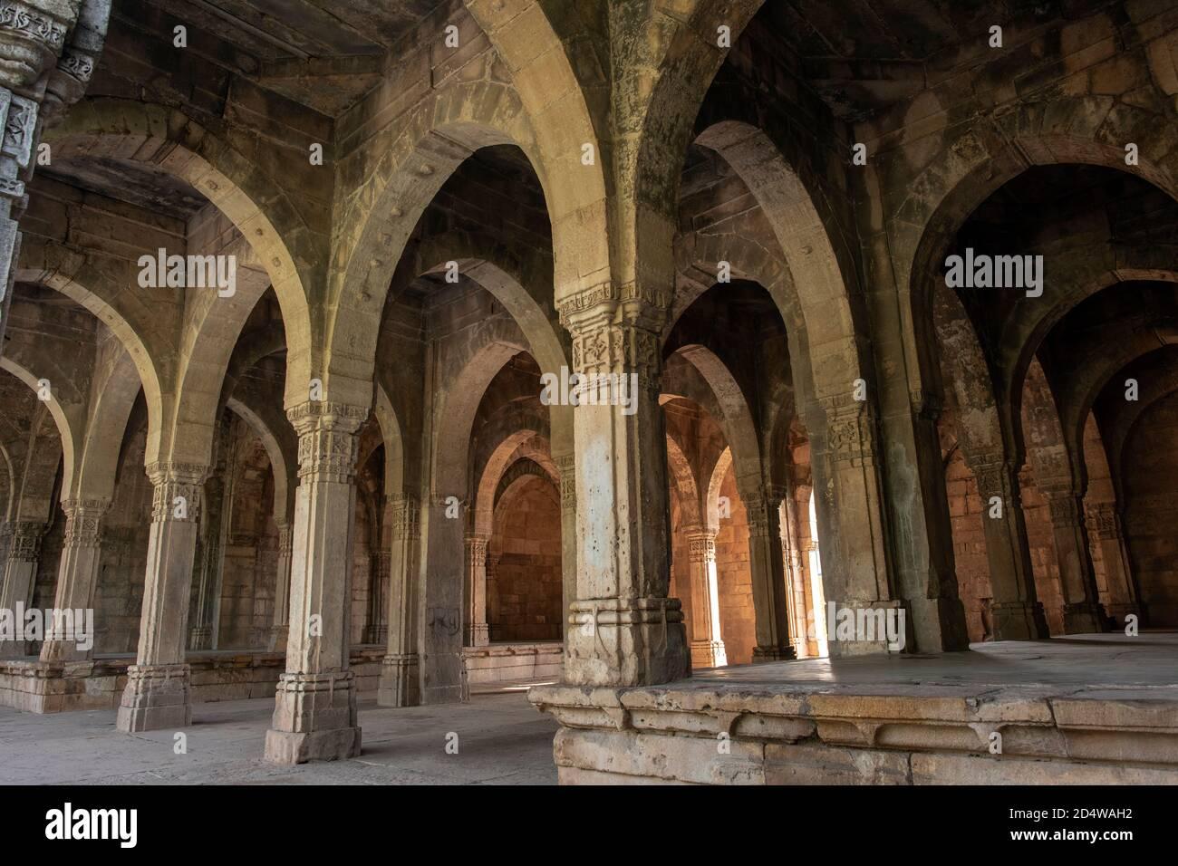 Custom House, Parque Arqueológico Champaner-Pavagadh, PATRIMONIO DE LA HUMANIDAD de la UNESCO, Gujarat, India. Foto de stock