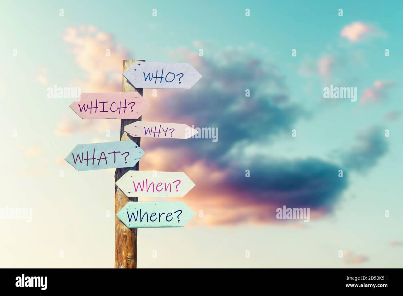 Tomar nuestras decisiones con la ayuda de preguntas correctas, Metamorphing. Foto de alta calidad Foto de stock