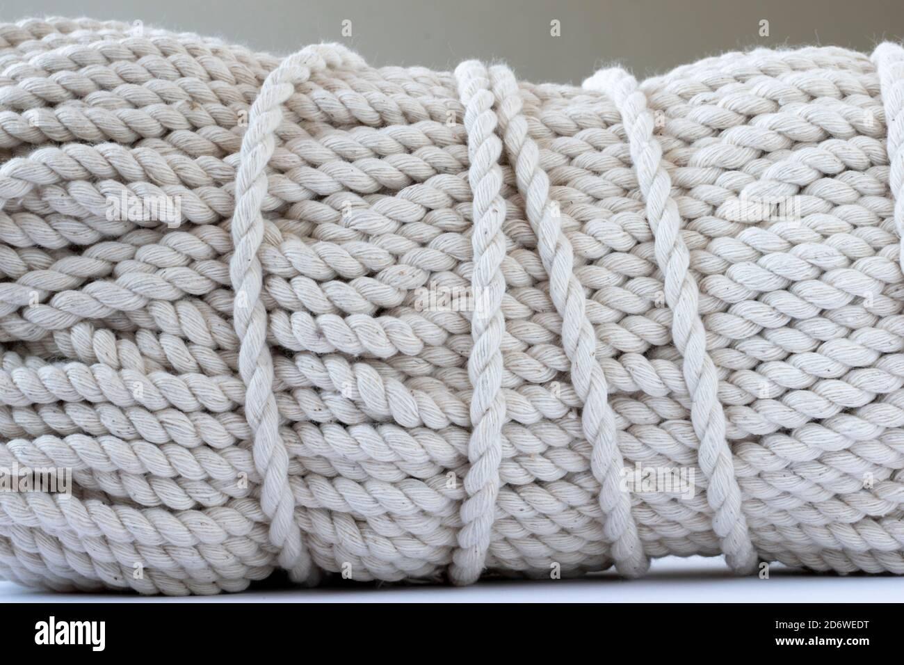 Skein de lana natural closeup Foto de stock