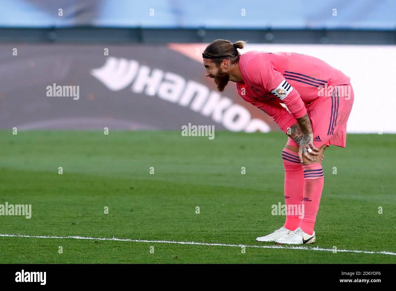 Ergio Ramos del Real Madrid durante el Campeonato de España la Liga de fútbol entre el Real Madrid y Cádiz CF el 17 de octubre de 2020 en Alfredo Di Foto de stock