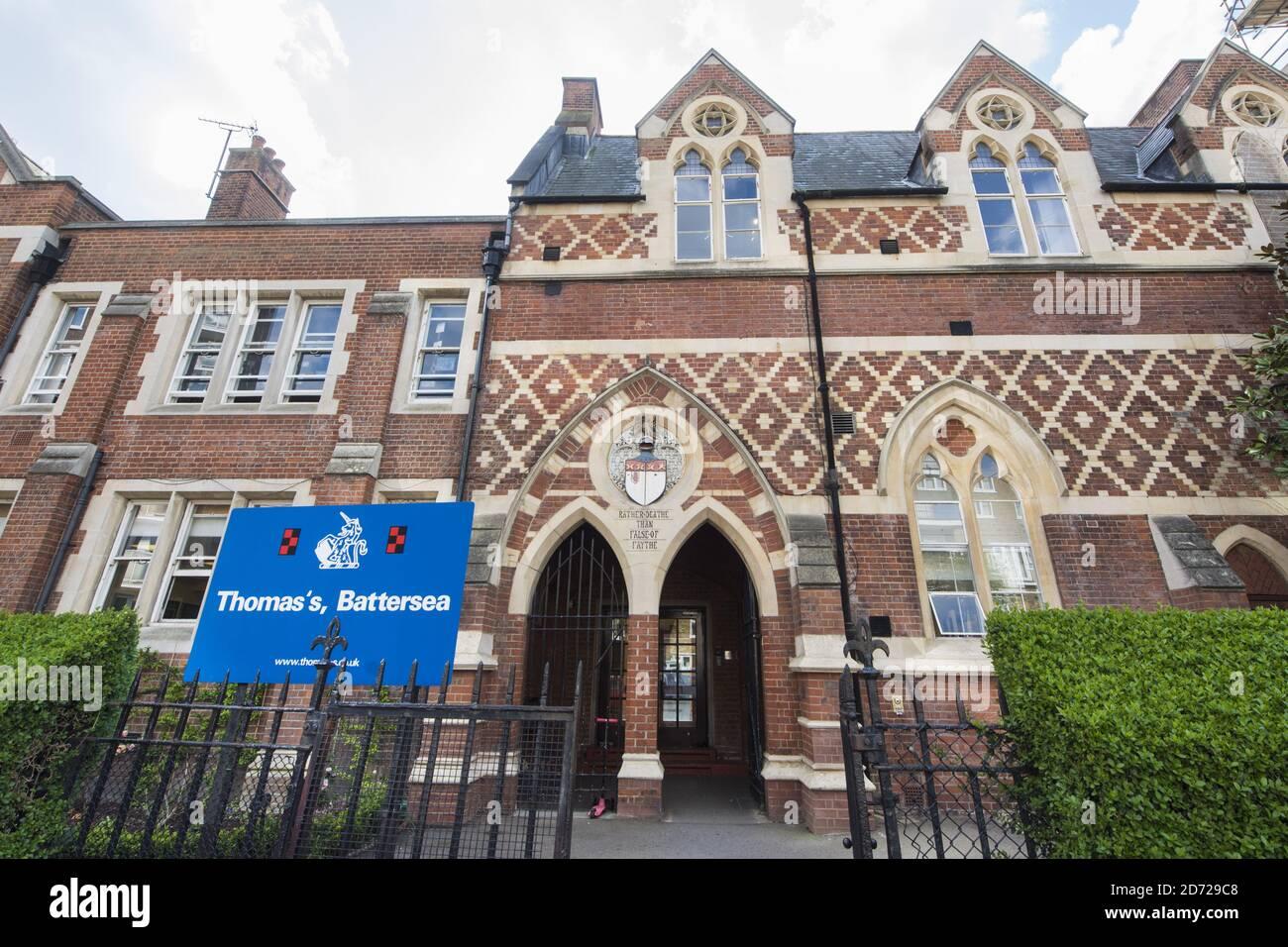 Vista general de la escuela de St Thomas en Battersea, Londres. El duque y la duquesa de Cambridge enviarán a su hijo, George, a la escuela a partir de septiembre de este año. Foto fecha: Martes 28 de marzo de 2017. El crédito de la foto debe decir: Matt Crossick/ EMPICS Entertainment. Foto de stock