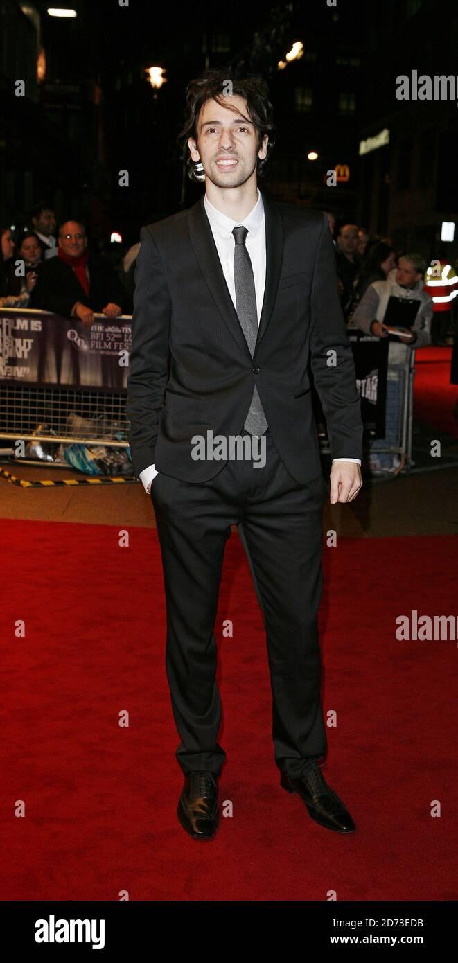 Ralf Little llega al estreno de Telstar, parte del BFI 52o Festival de Cine de Londres, en el Odeon West End en Leicester Square, Londres. Foto de stock