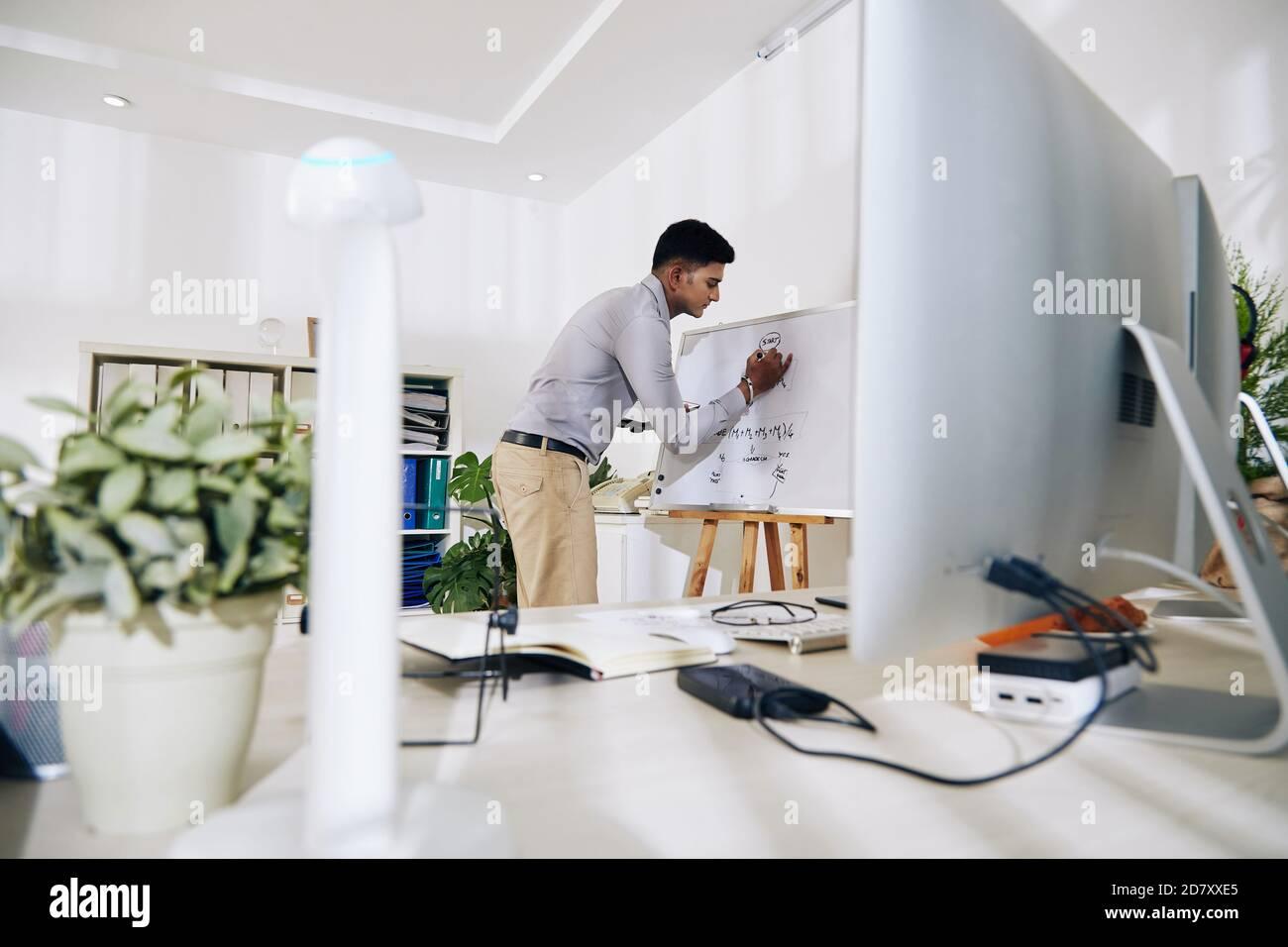 Trabajo de planificación del ingeniero de software Foto de stock