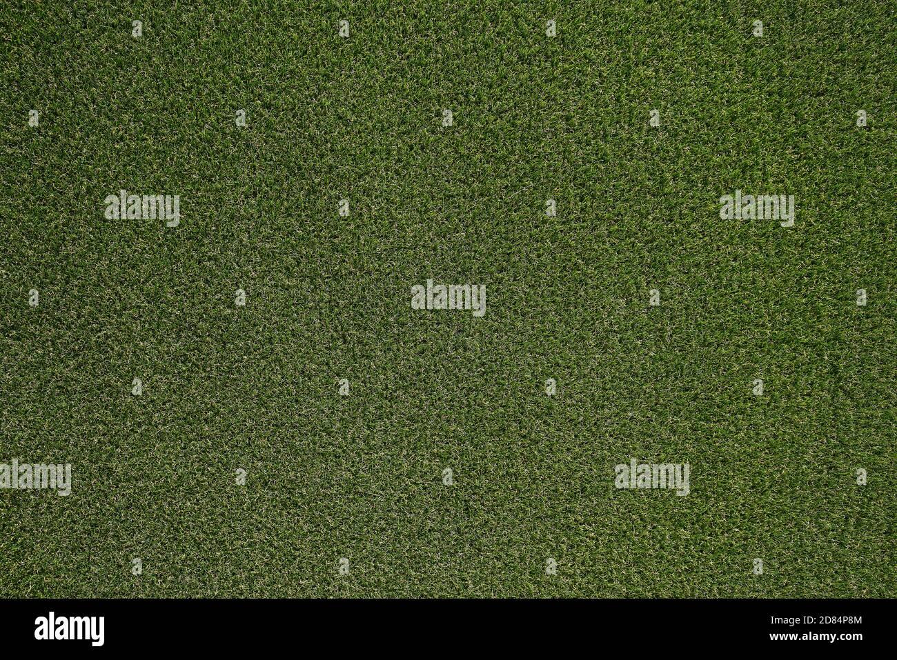 Fondo de textura verde hierba, Vista superior de césped concepto ideal utilizado para hacer suelo verde, césped para un campo de fútbol de entrenamiento, campos de golf hierba Foto de stock