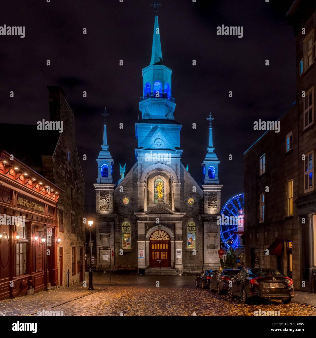 La Chapelle Notre-Dame-de-Bon-Secours, joyau historique et patrimonial. Foto de stock