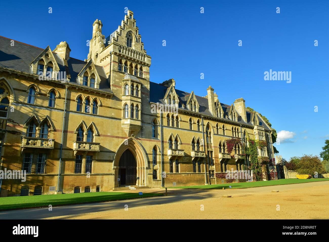 La iglesia Meadow Building of Christ, un colegio constituyente de la Universidad de Oxford en Inglaterra Foto de stock