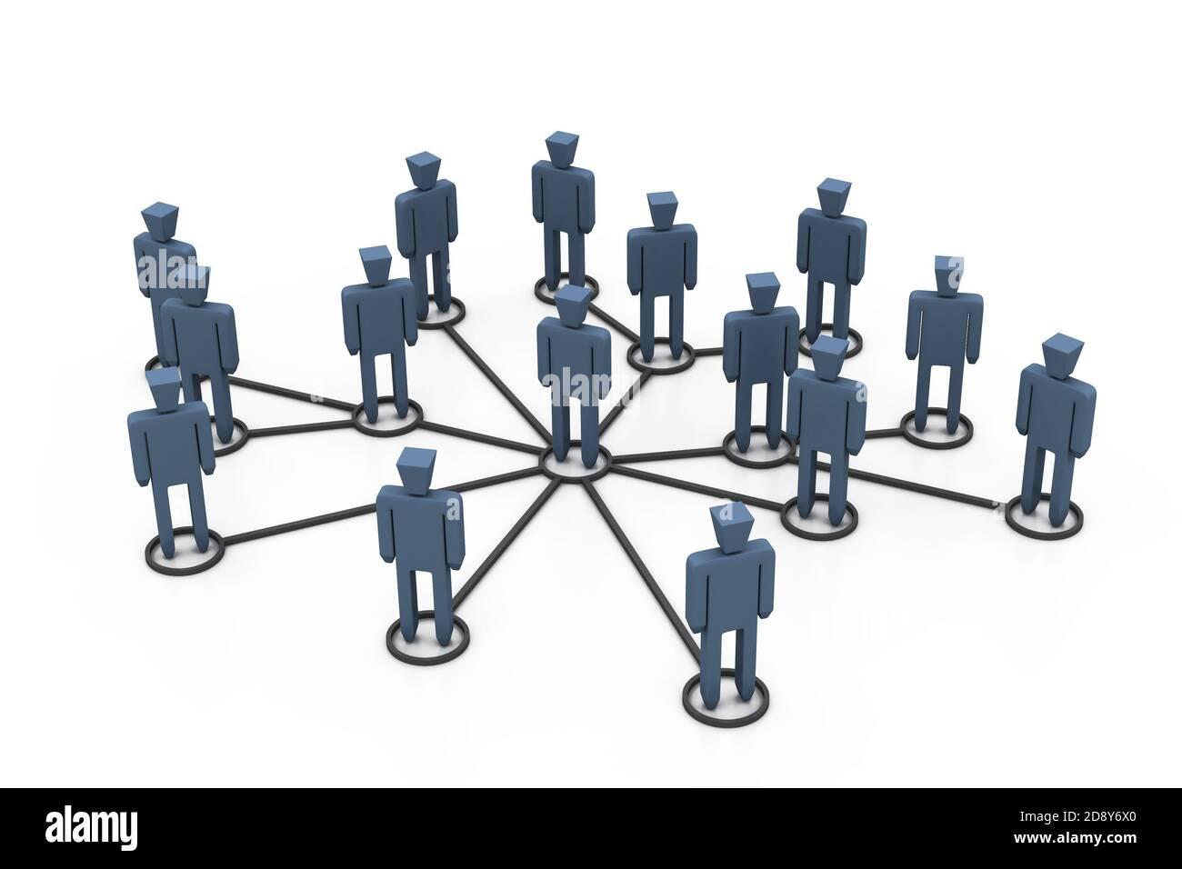 La red de negocios Foto de stock