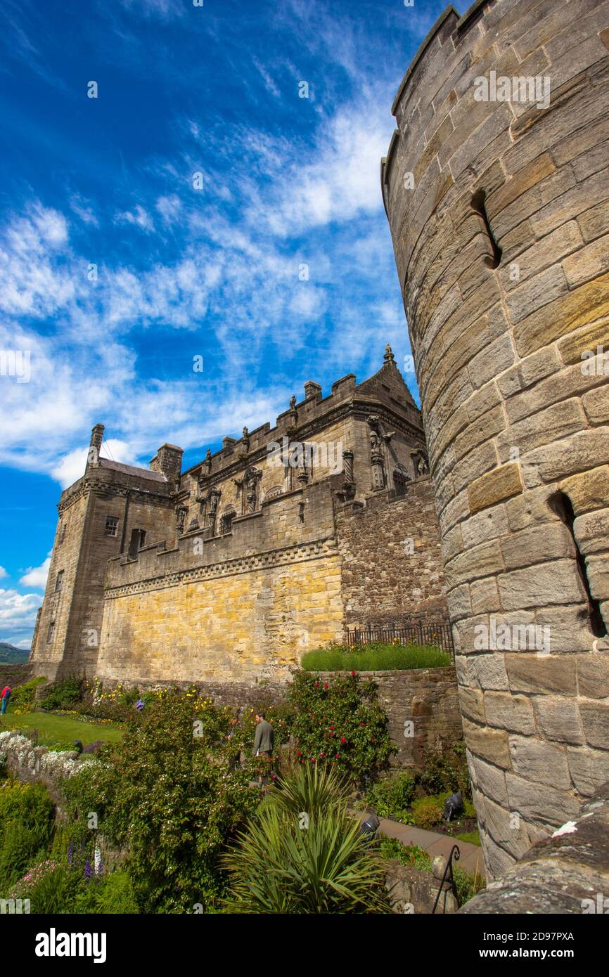 Castillo de Stirling, Ciudad de Stirling, Escocia, Reino Unido, Europa. Foto de stock