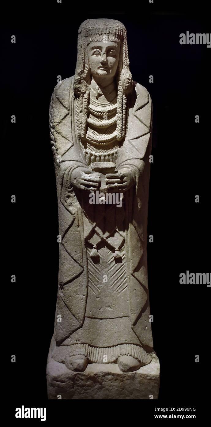 La Gran Dama Oferente, escultura ibérica. Museo Arqueológico Nacional de España del siglo III a. C. Foto de stock