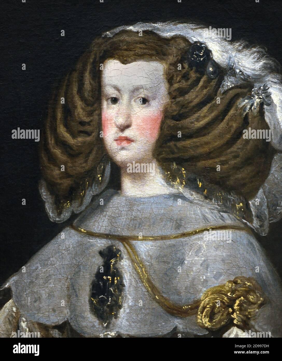 Mariana de Austria 1656 Diego Velázquez, (1599-1660), España del siglo XVII, Foto de stock