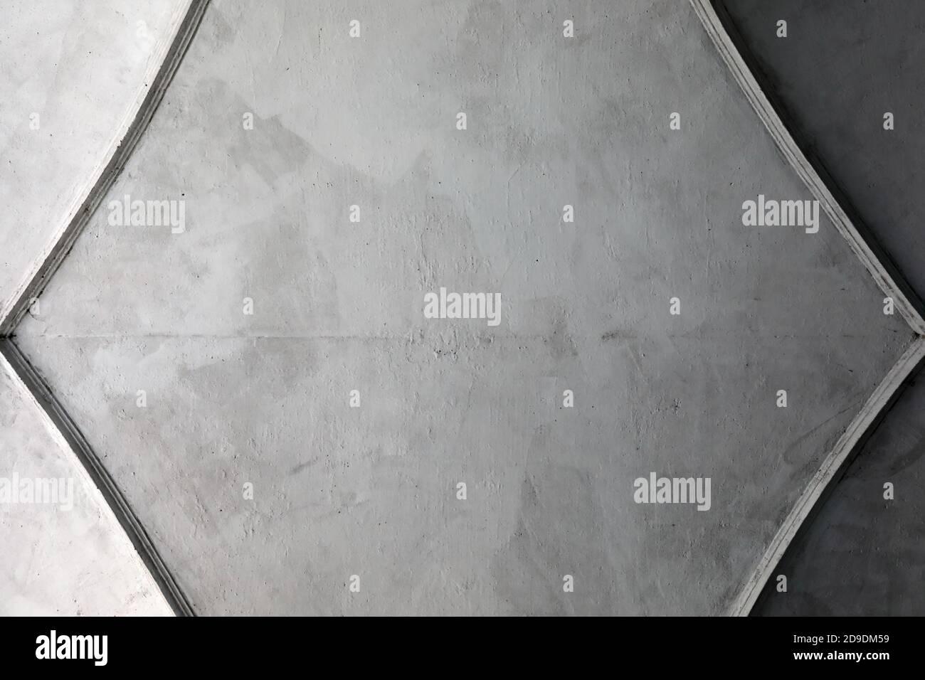 Vista de techo de hormigón de arco antiguo Foto de stock