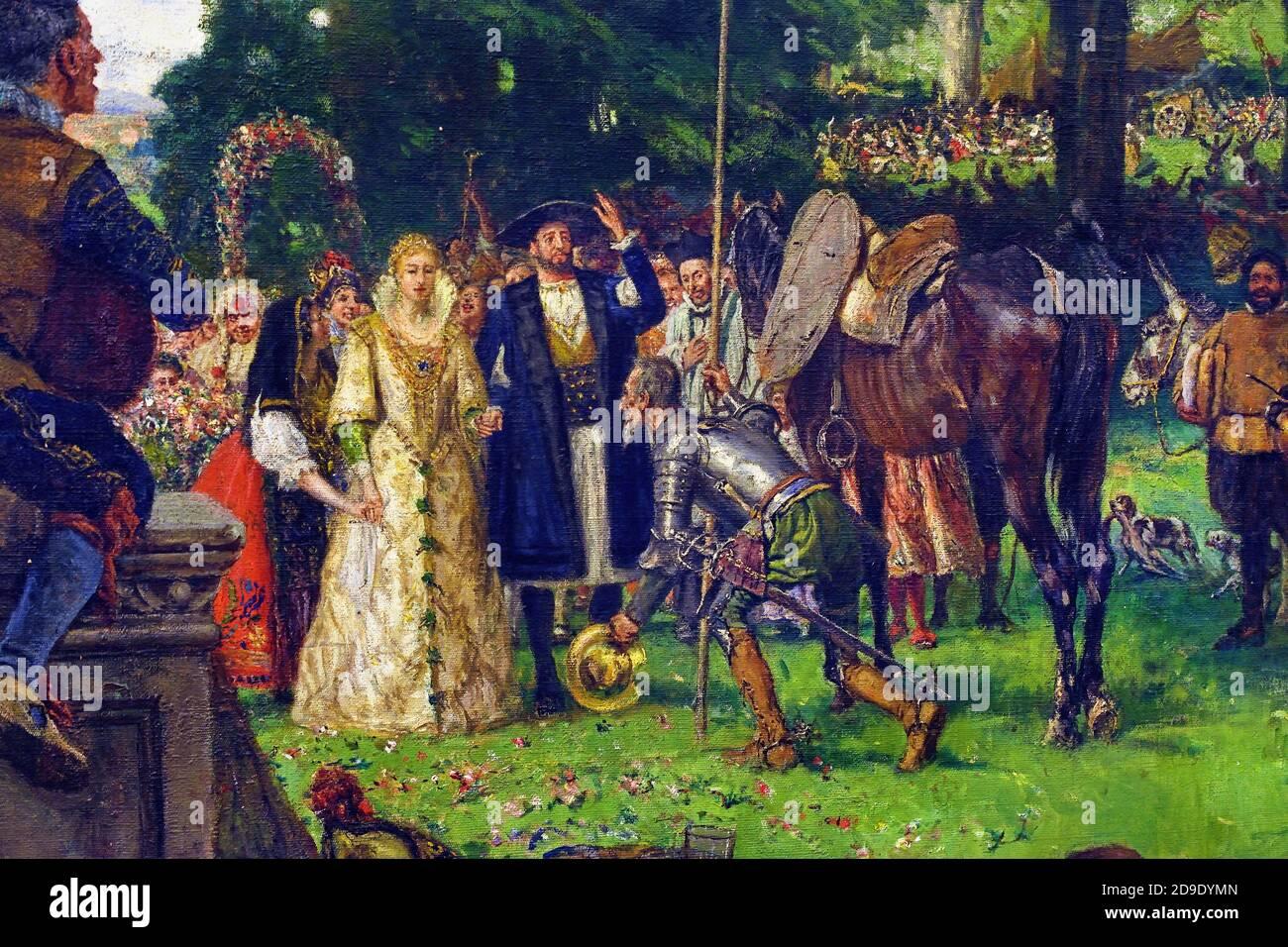 Las Bodas de Camacho ( Cervantes Don Quijote ) por José Moreno Carbonero 1860 - 1942 España Foto de stock