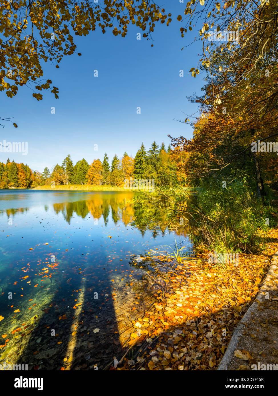 Parque nacional de los lagos de Plitvice, Croacia Foto de stock