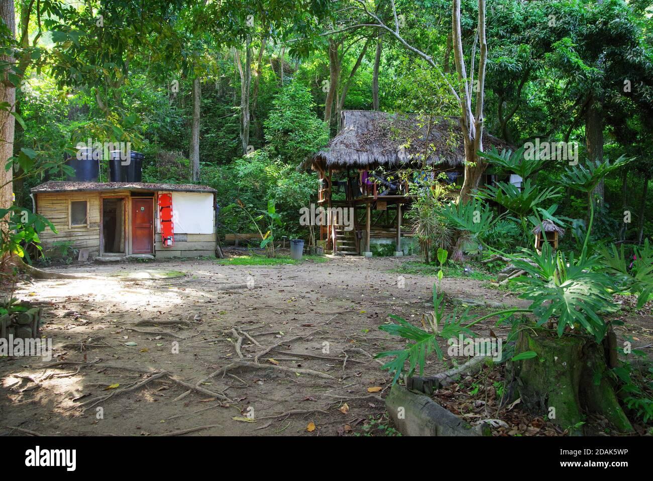 Casa de campo en Minca, Colombia, América del Sur Foto de stock
