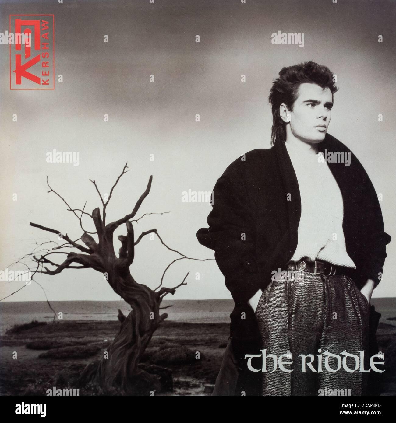 Nik Kershaw The Riddle, vinilo LP álbum cubierta Foto de stock