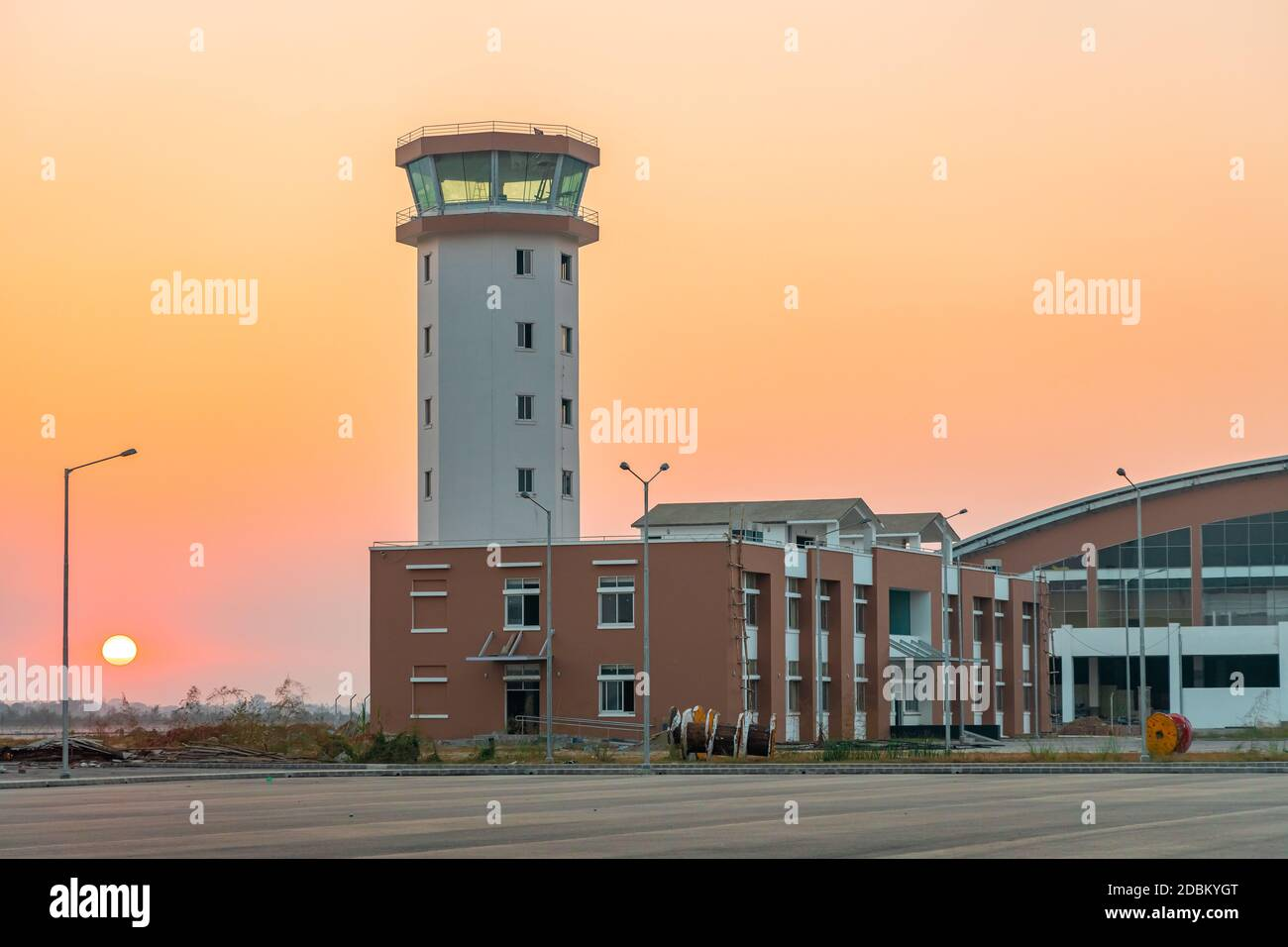 Aeropuerto Gautam Buddha en Bhairahawa, Nepal. Se espera que la terminal internacional funcione a partir de mediados de 2021. Foto de stock