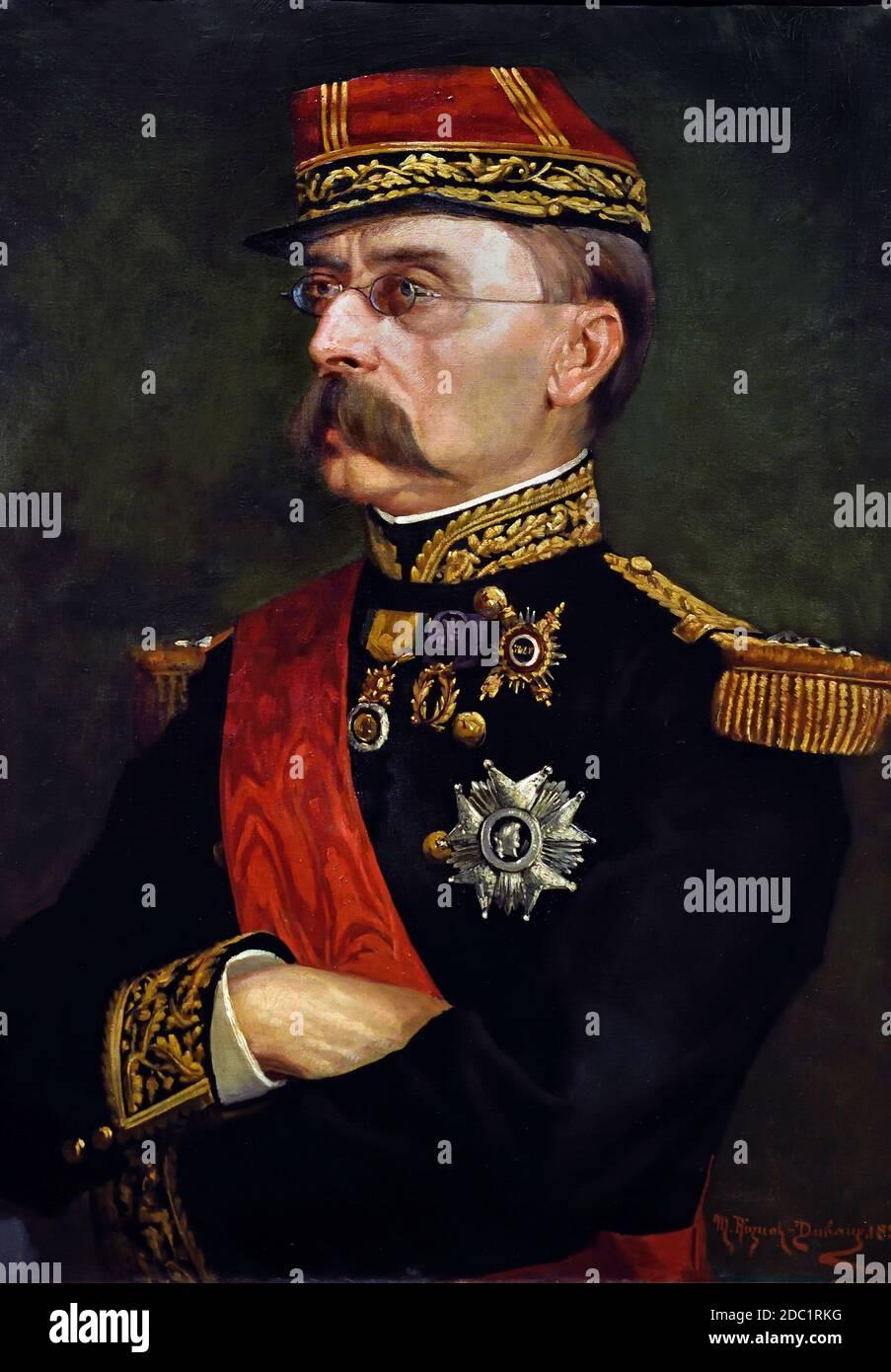 El general francés Louis Faidherbe (1818-1889).1884 por Marie-Madeleine Rignot-Dubaux (1857-1887) Francia, francés. Foto de stock