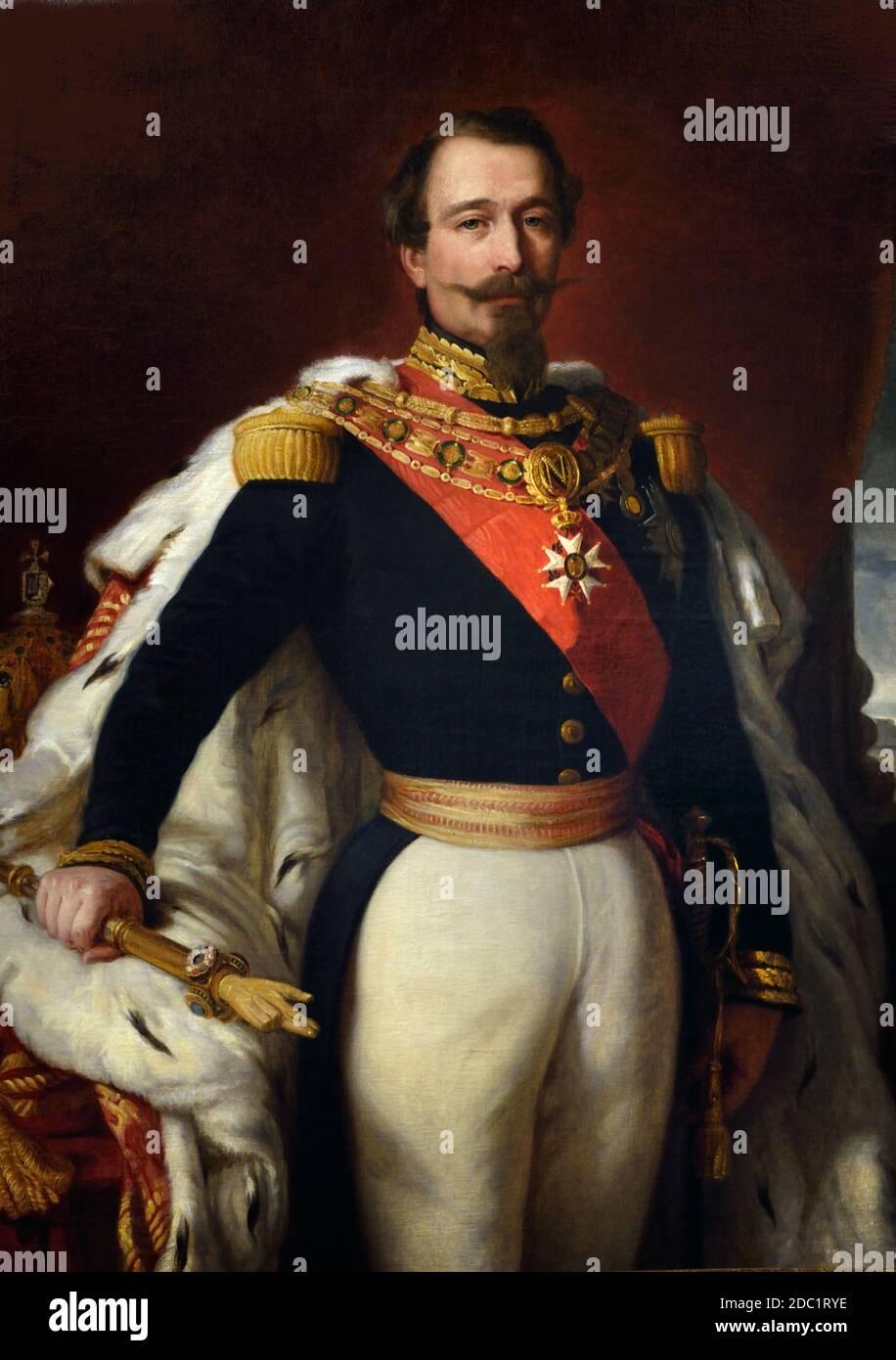 Napoleón III (Charles-Louis Napoléon Bonaparte, 1808 – 1873), sobrino de Napoleón I, fue el primer presidente de Francia, de 1848 a 1852, y el último monarca francés, de 1852 a 1870. Retrato de Franz Xaver Winterhalter Francia, francés. ( ejército del emperador Napoleón Bonaparte ) Foto de stock